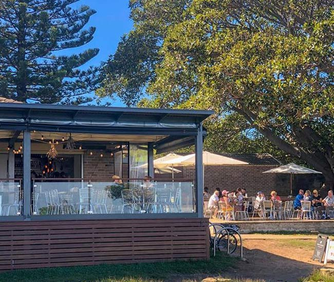 Bella Vista Cafe North Head Manly 650X550