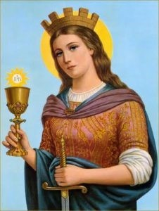 St Barbara, Patron Saint of Gunners